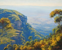 Narrow Neck Katoomba by artsaus