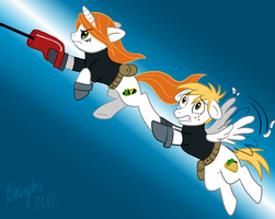 KP Ponies: Up Up and Away by Blairaptor