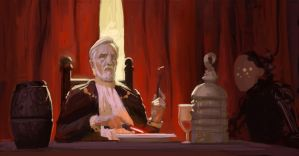Count Dooku enjoying the meal by Fleret