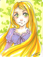 Shoujo Card - Rapunzel by Lahara