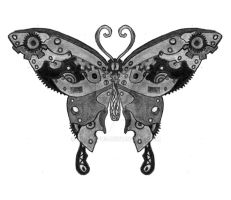 Steampunk Butterfly by Sol-Lepus