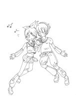 Kagamine Rin and Len by I-Chop