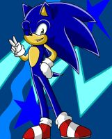 Sonic The Hedgehog by FabienneTheHedgehog