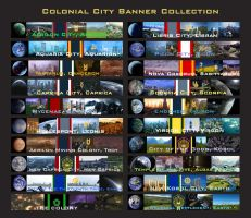 Colonial City Banner Montage by groovychk