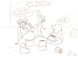 too much honey.. by sora-belly