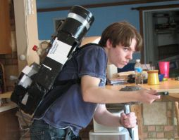 Modleing my Proton Pack 1 by FilmmakerJ
