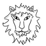 Lion Black and White by Gingerbaron