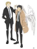 FBI Ver. Cas and Dean by Pra88