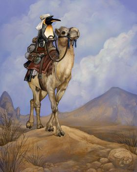 Penguin of Arabia by ursulav