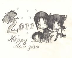 .: Happy New Year :. 2011 by darkwolftamer12
