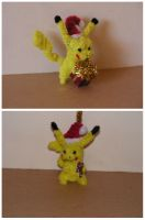 Pikachu (xmas ornament) by fuzzyfigureguy