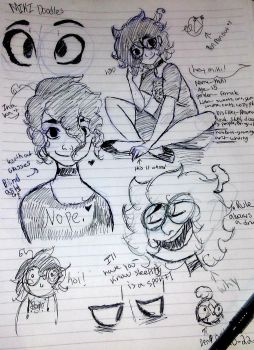 doodles of me by Mikilenchen1
