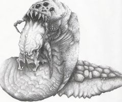 Gears of war 2 -Rock Worm by jpizzle6298