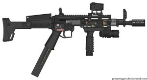 .45 auto smg by ZombiehomeDEFANCE91
