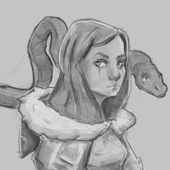 Snake lady or something by Nuxxe