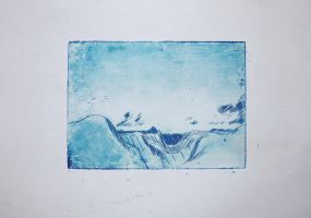 Landscape Etching by Joojie99