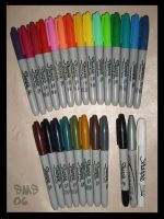 Sharpies of the rainbow by salientskivvy