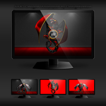 AMD Dragon Wallpaper by Designfjotten by Designfjotten