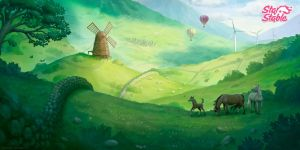 The green hills of Jorvik by neylica