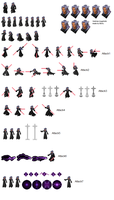 Xemnas Sprite Sheet by Axel15151