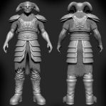 Zbrush Demon Character WIP by Grimnor