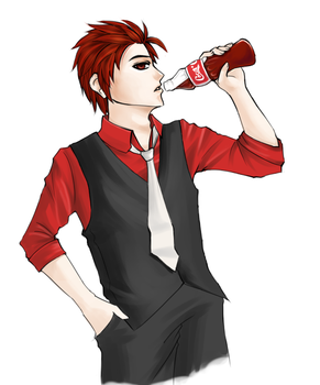 drink your coke. by xMeiji