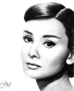 Audrey Hepburn by Dead-Beat-Nick