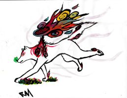 Okami Amaterasu 2 by ArisaBluFire