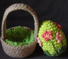 Easter egg basket flowers by meekssandygirl