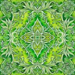 - Bright green ornament - by Losenko