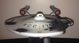 Damaged ISS ENTERPRISE NCC-1701 by Johnny-E