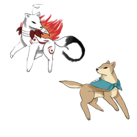 Cry and Pewdie as Okami's by Chaos55t