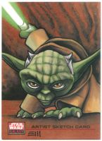 Yoda Sketch Card by Erik-Maell