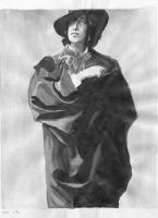 Oscar Wilde Ink Wash by MystressVulpes