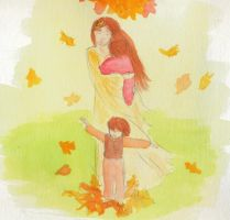 Redheads in Autumn by Ellosse