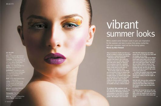 beauty spread Lifescape mag by Pritography