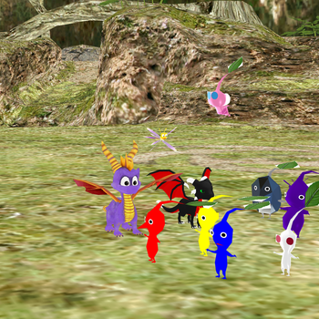 Are those Pikmin? by SuperSmashCynderLum