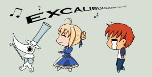 Wrong Excalibur by Pinkatzinha