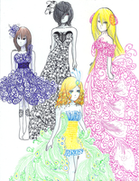Dresses and Gowns by danajayy