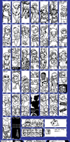 Miiverse Doodles 2 (July) by Gregarlink10