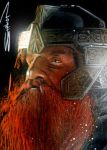 Gimli Sketch Card by RandySiplon
