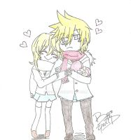 2000 Hugs and Kisses- Namine, and Roxas by yuffb