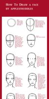 Female face tutorial by applestruddles