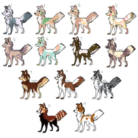 Puppy Adoptables -2 LEFT by stefabum