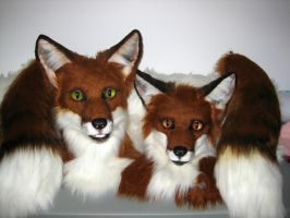 Red Fox Masks by MaewynShadowtail