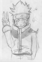 Naruto sketch 1. by babialbathefirst