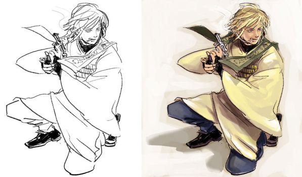Doodle - Sanzo by superspacemonkey