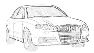 Sketch: The New Audi S4 by Insidious-Ink