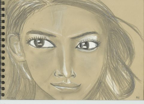 Kraft test - Woman face study n112 by lv888
