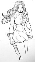 Buffy Commission Black and Whi by Dogsupreme